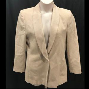 Pendleton Size 12 Wool Blazer Beige Pattern Career